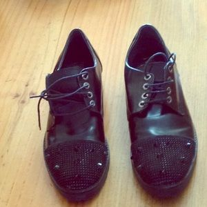 Shoes - Black studded loafers